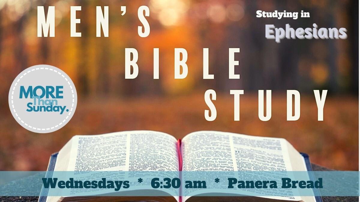 Men's Bible Study NOW MEETING